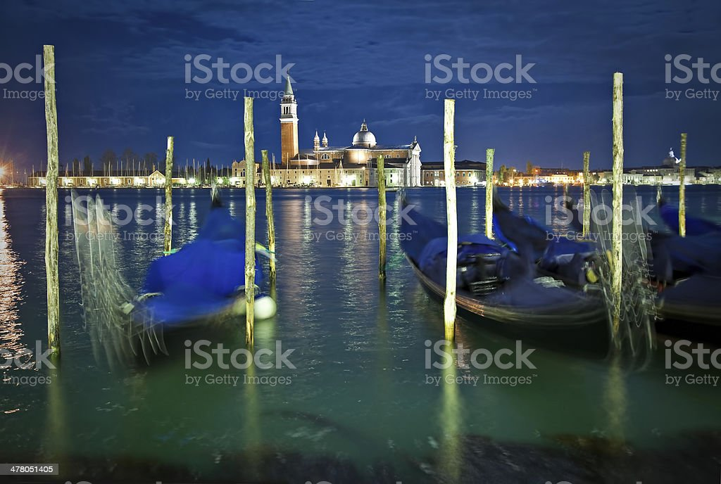 Venice at night time royalty-free stock photo