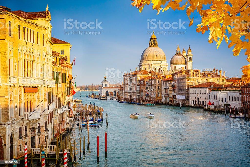 Venice at sunny evening stock photo