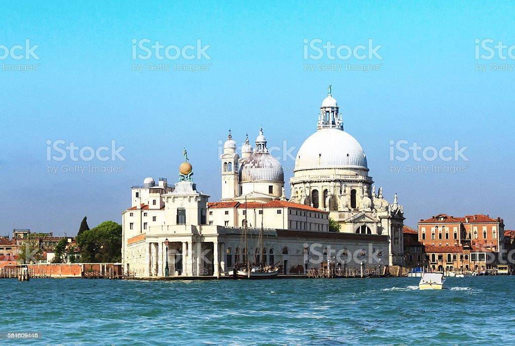 Venice: Basilica di Santa Maria della Salute Viewed From Water stock photo