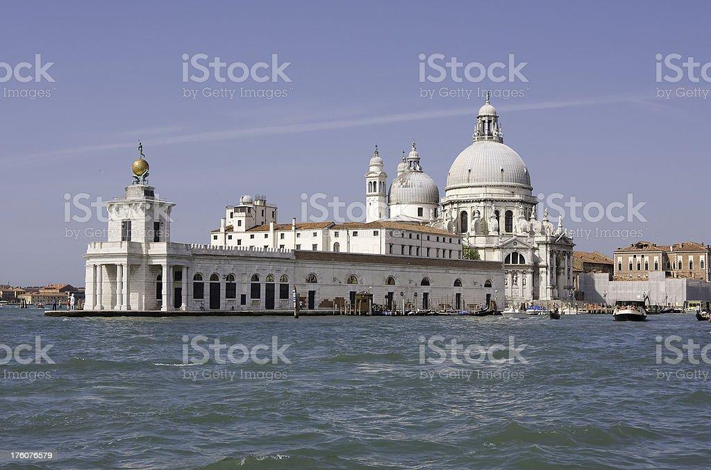 Venice, Basilica Santa Maria della Salute royalty-free stock photo