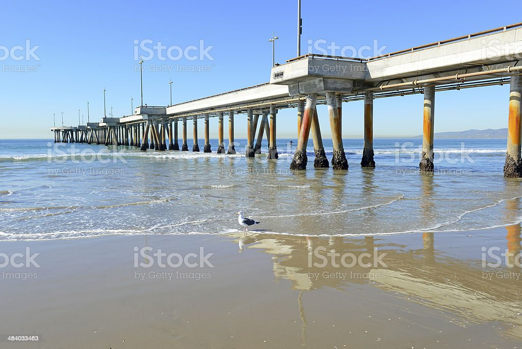 Venice Beach and Coastline of Southern California, USA stock photo