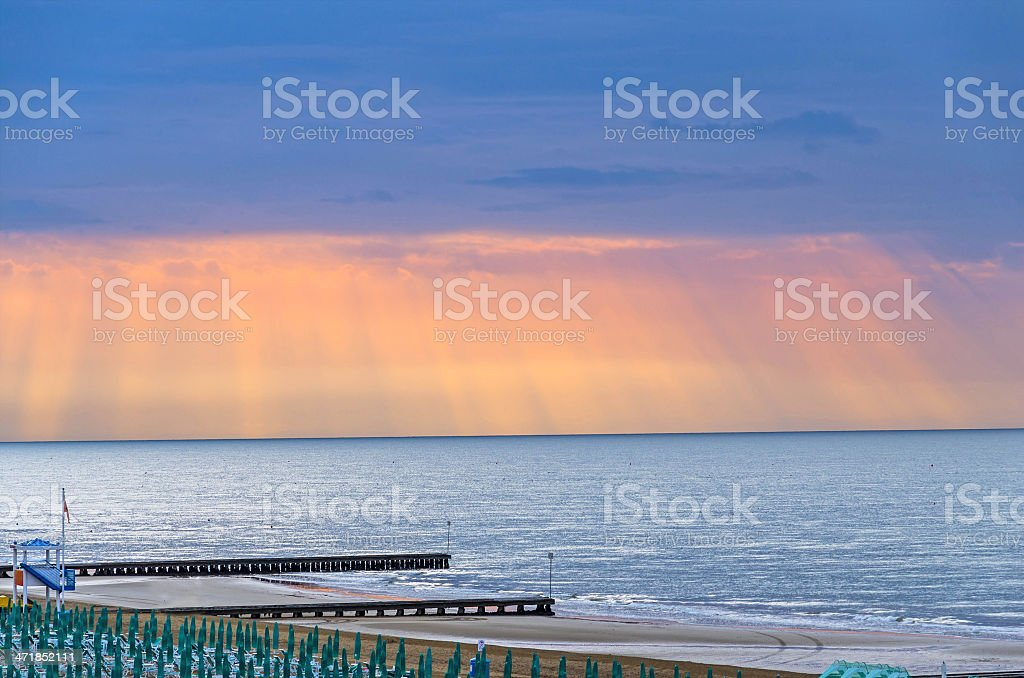 Venice Beach And The Mediterranean Sea royalty-free stock photo