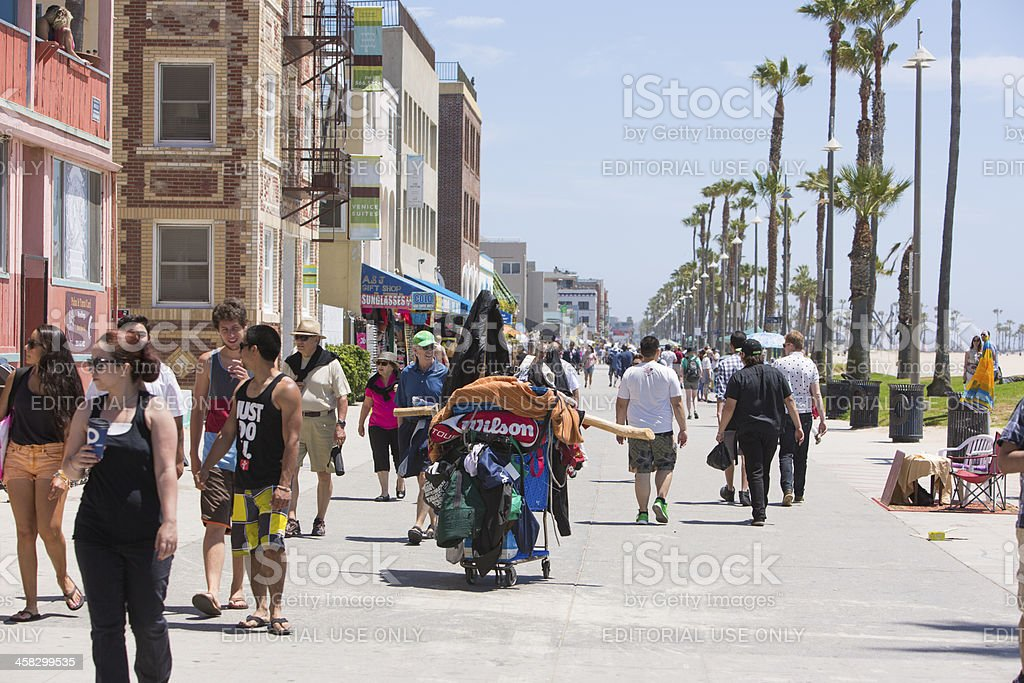 Venice Beach Boardwalk royalty-free stock photo