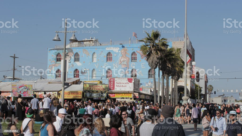 Venice Beach boardwalk. stock photo