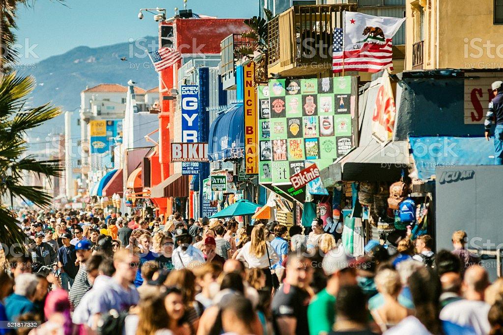 Venice Beach Broadwalk Los Angeles stock photo