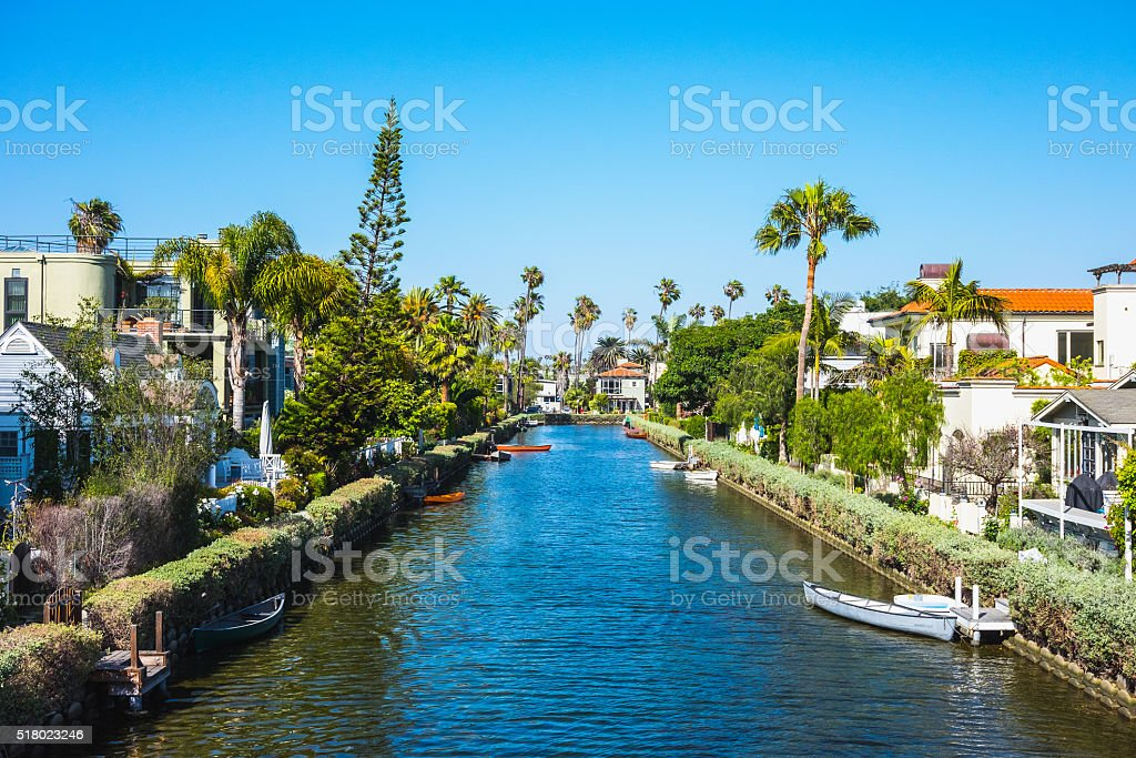 Venice Beach Canals, California, USA stock photo