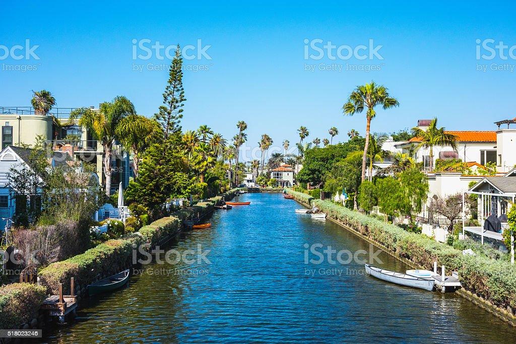 Venice Beach Canals, California, USA stock photo