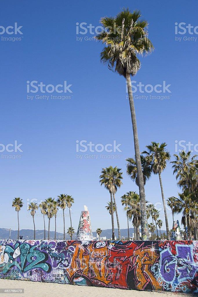 Venice Beach Graffiti stock photo