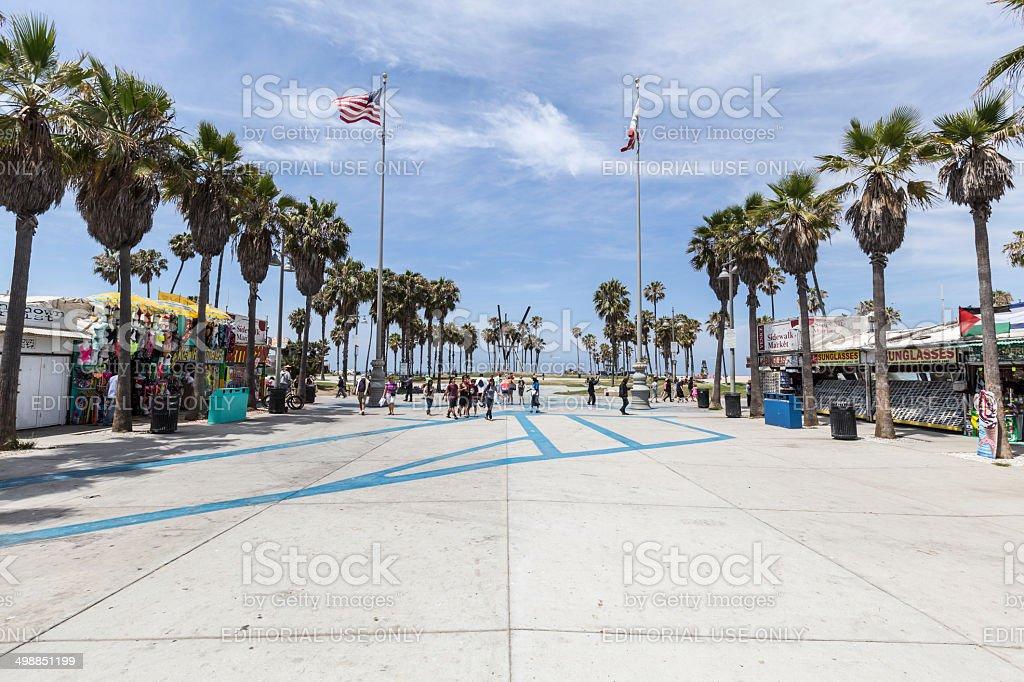 Venice Beach Plaza Los Angeles stock photo