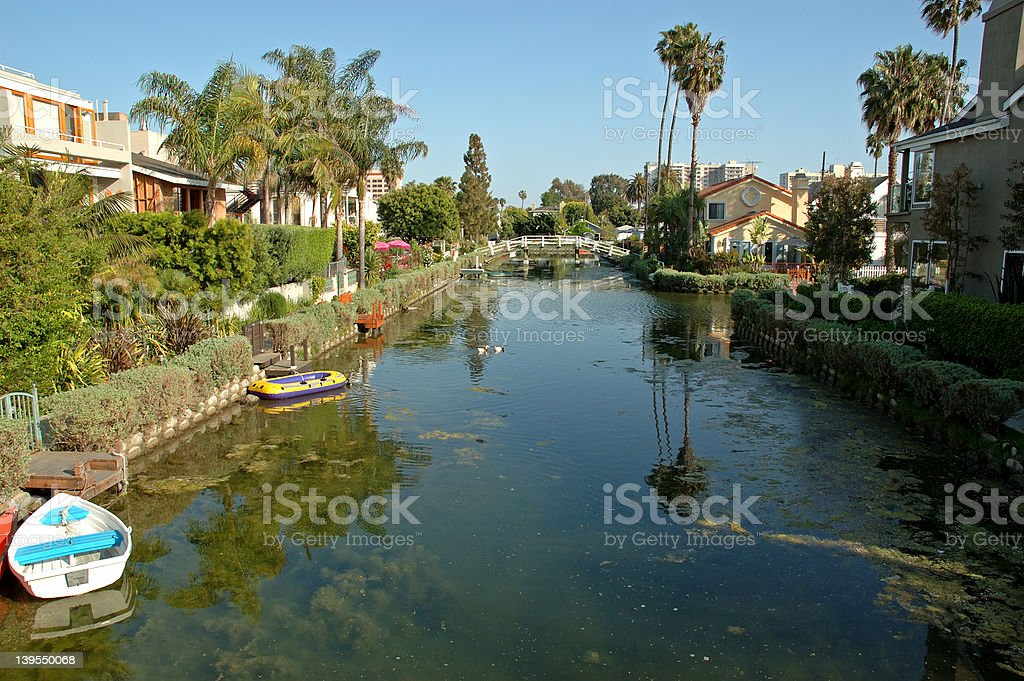 Venice Beach residential area stock photo