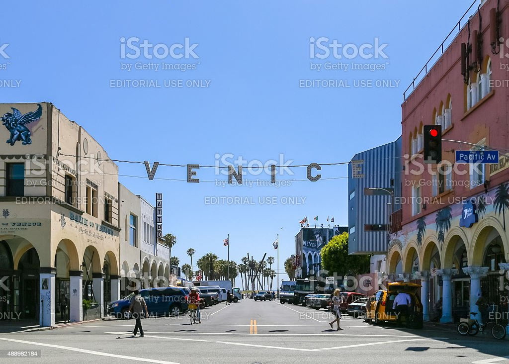 Venice Beach Sign stock photo
