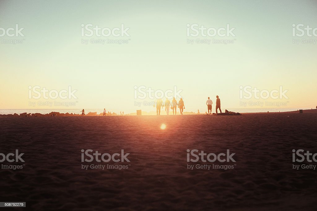 Venice Beach Sunset royalty-free stock photo