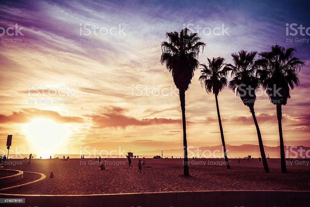 Venice beach wallpaper background stock photo