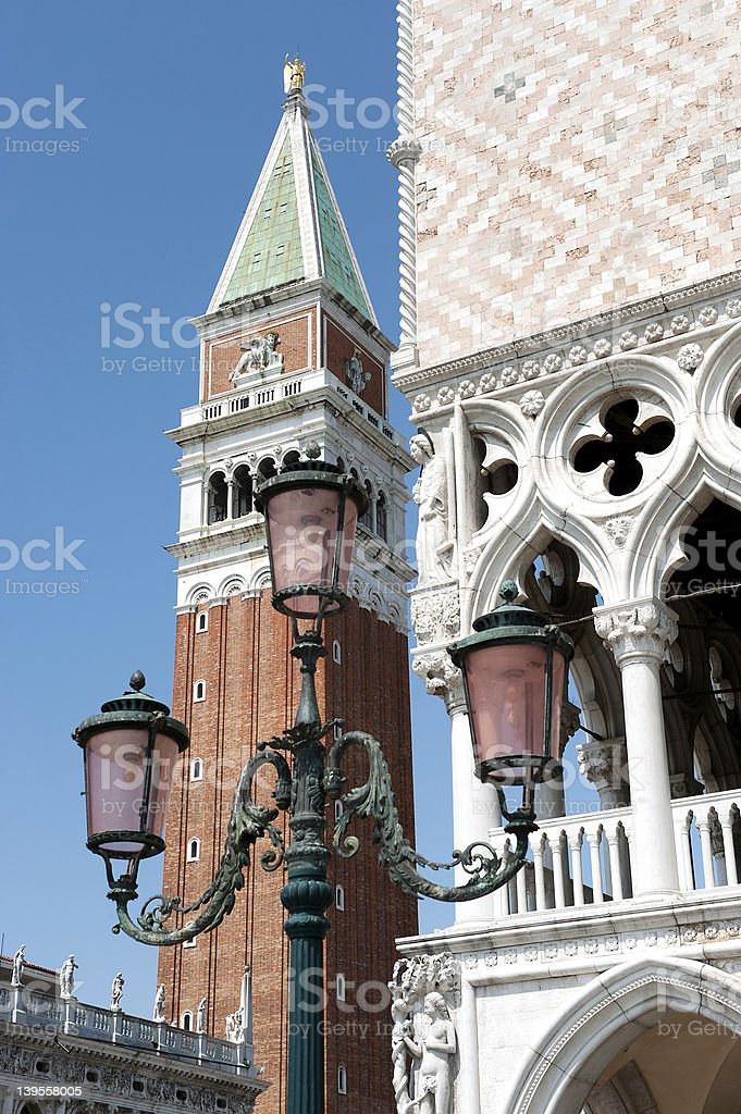 Venice, Bell tower, piazza san marco, royalty-free stock photo