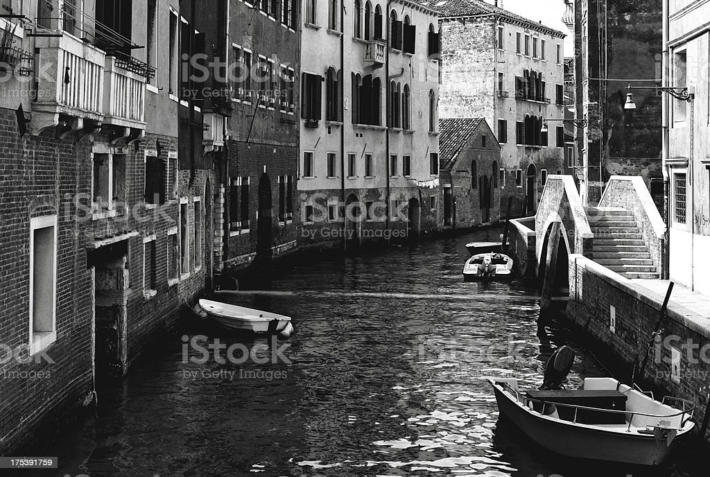 Venice. Black and White royalty-free stock photo