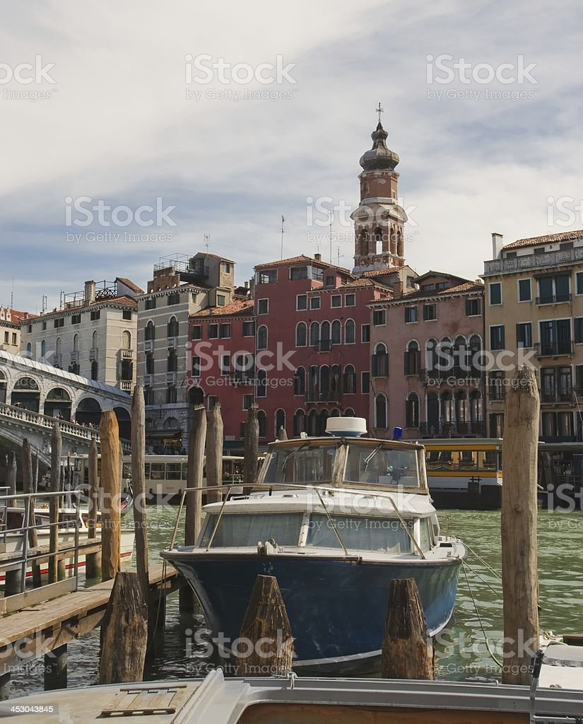 Venice. Boat at the pier royalty-free stock photo