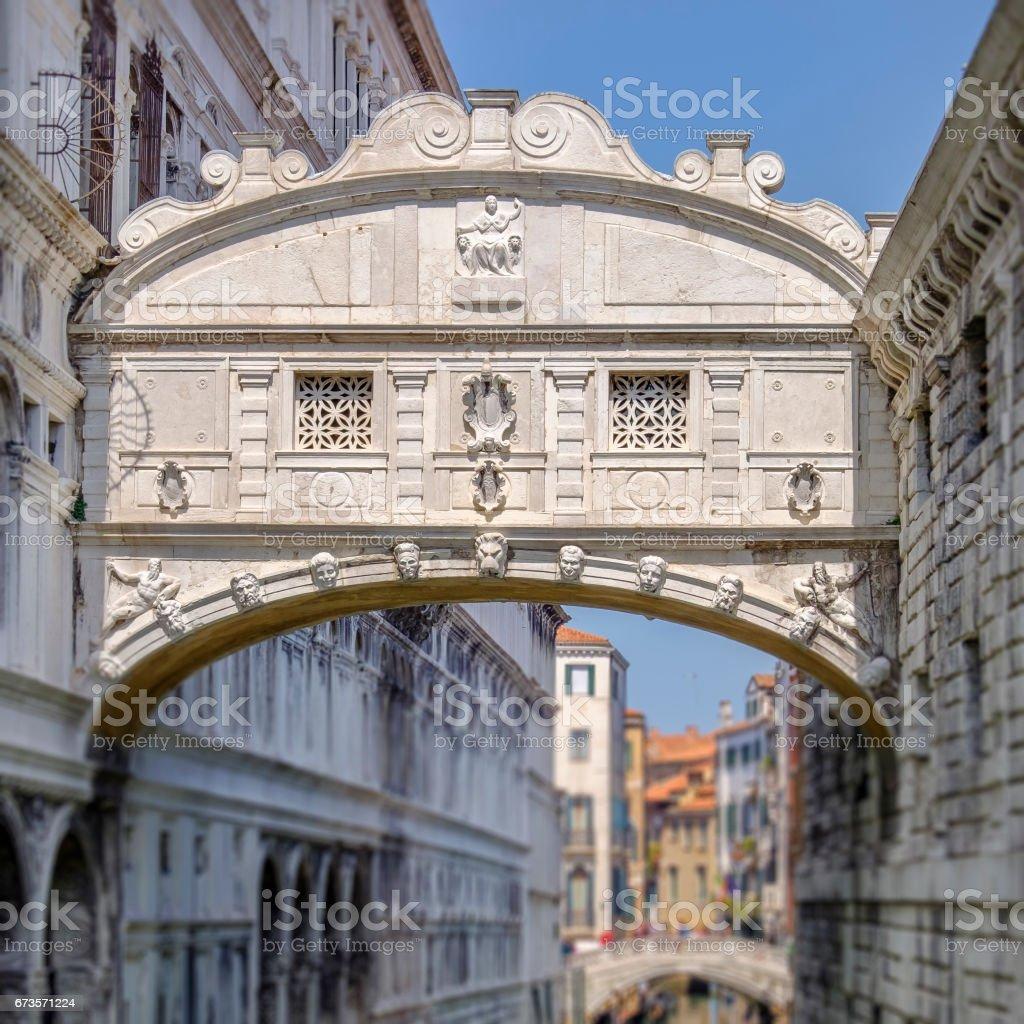 Venice, Bridge of Sighs - Italy stock photo