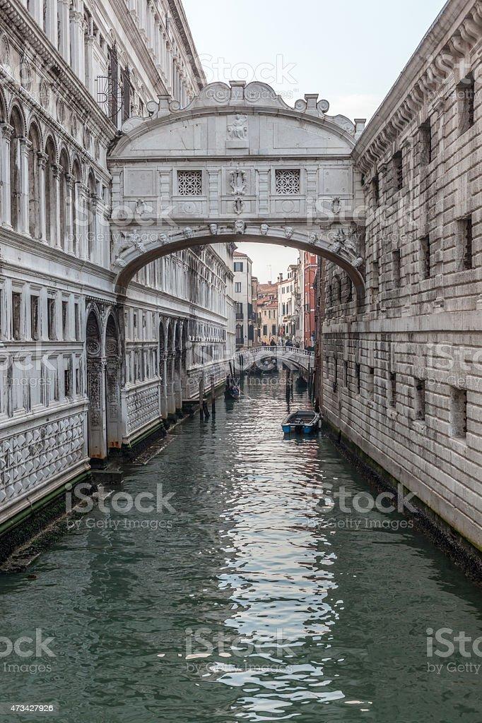 Venice, Bridge of Sighs stock photo