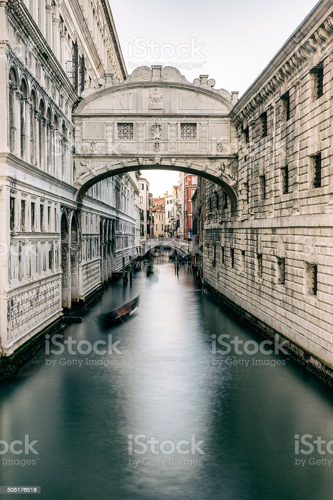 Venice: Bridge of sighs stock photo