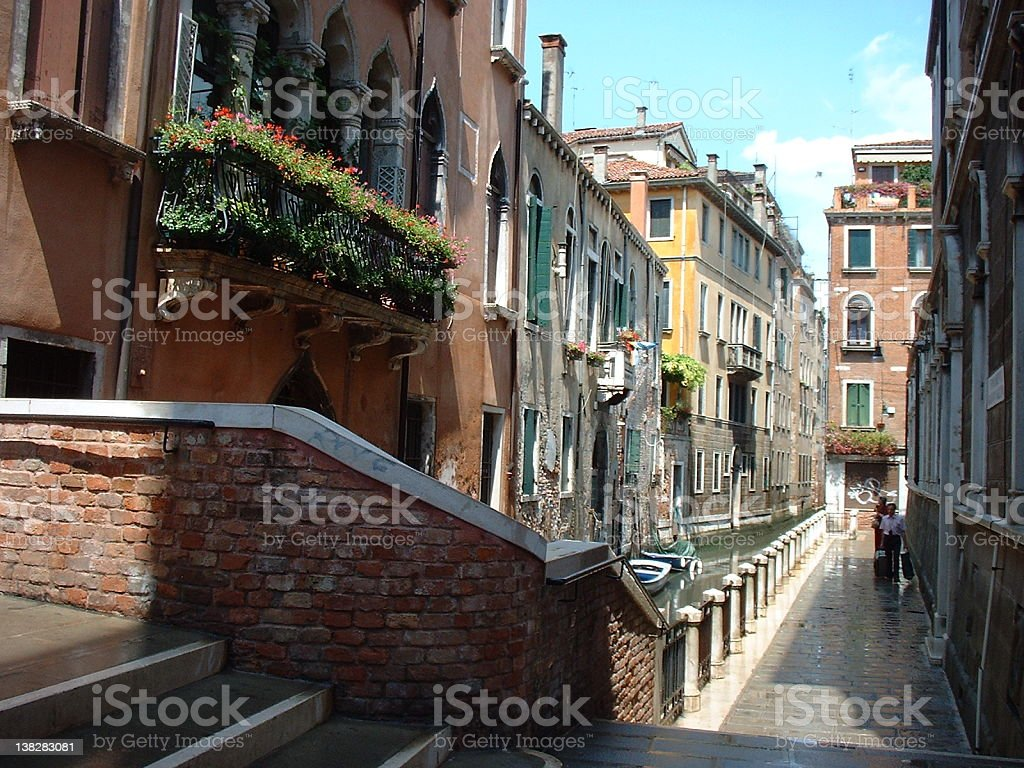 Venice Buildings and Street royalty-free stock photo