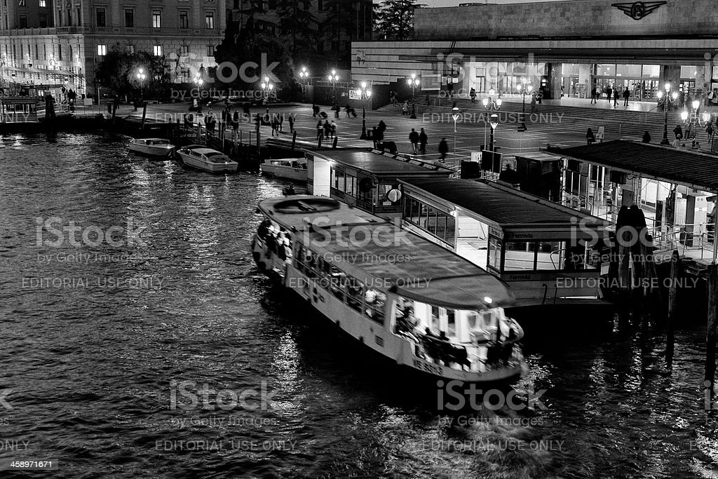 Venice by Night. Black and White royalty-free stock photo