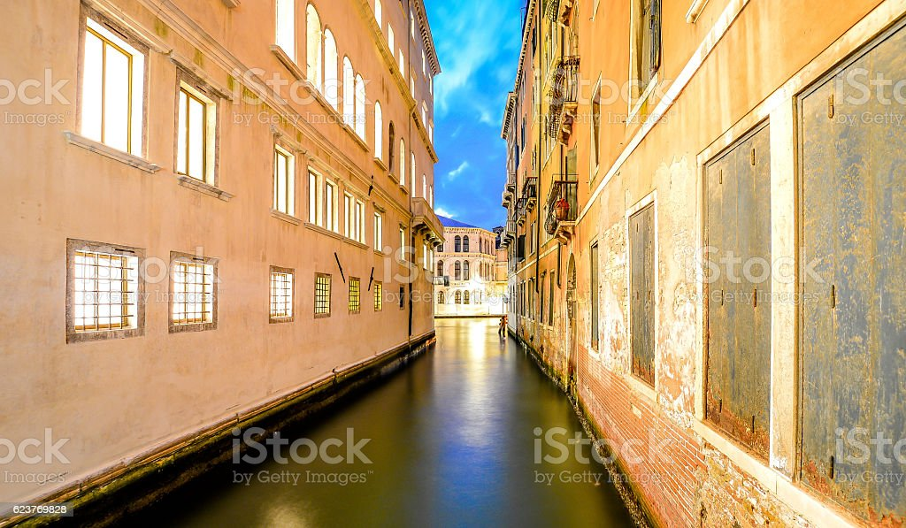 Venice by Night Longexposure stock photo