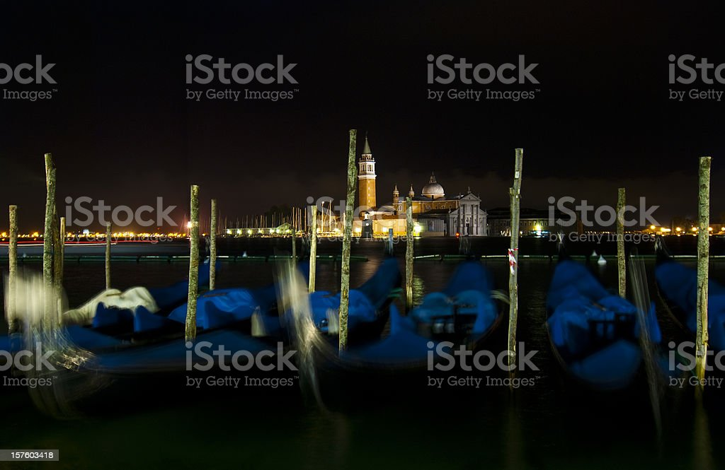 Venice by night royalty-free stock photo