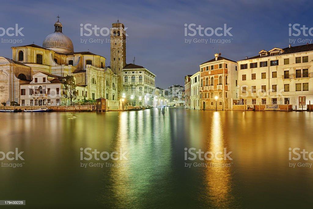 Venice by night stock photo