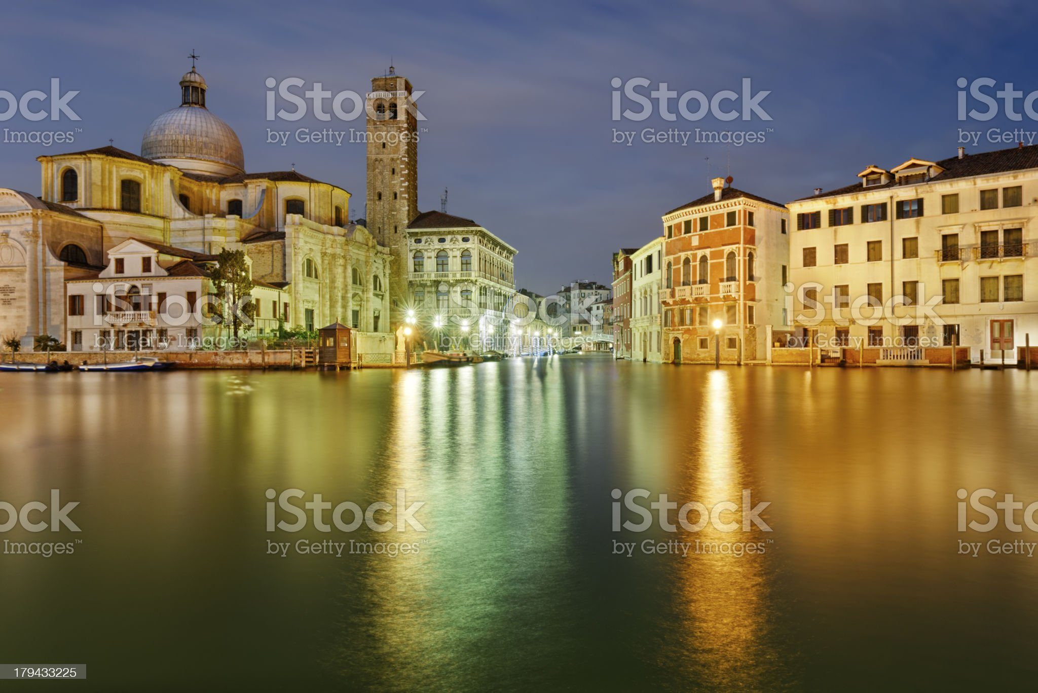 Venice by night royalty-free stock photo