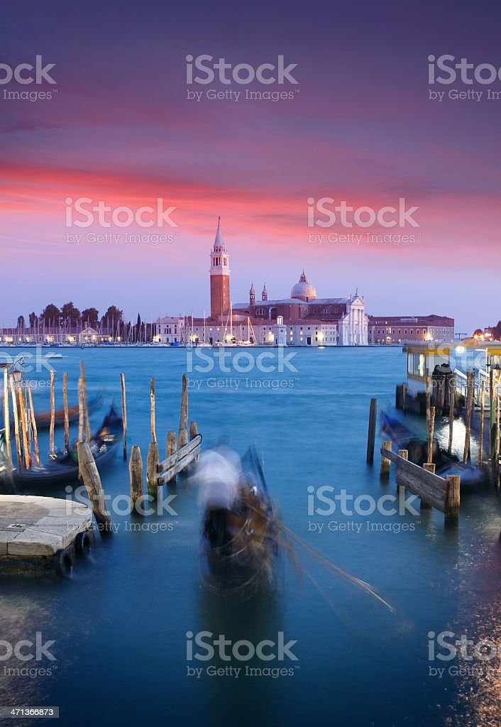 Venice by twilight royalty-free stock photo