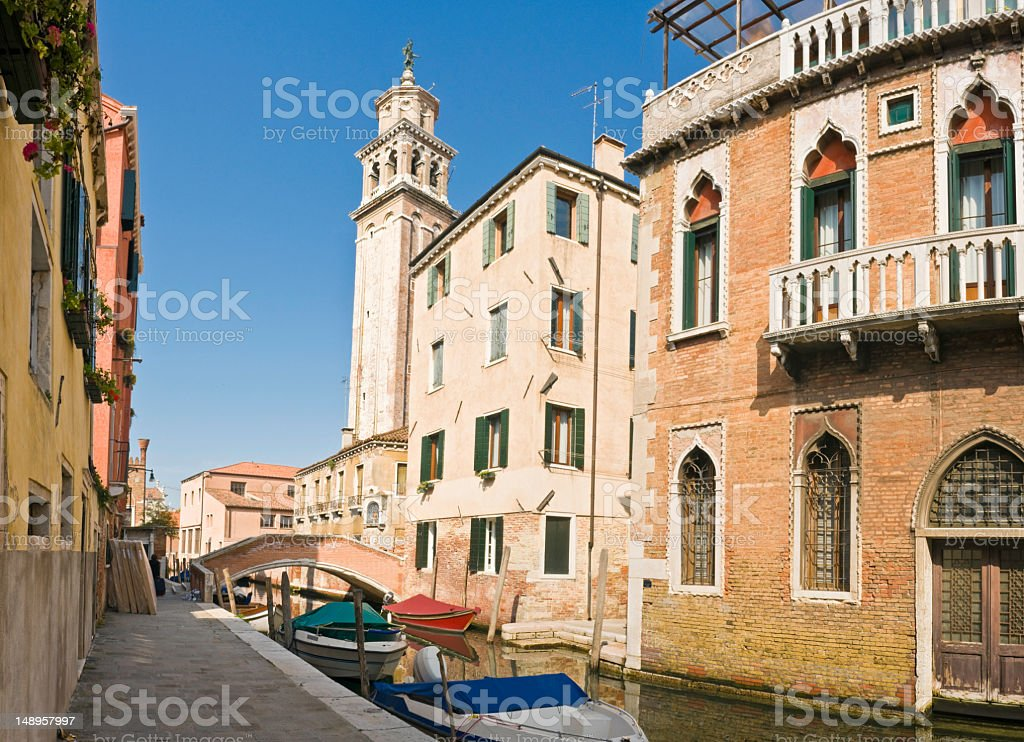 Venice campanile and canal royalty-free stock photo