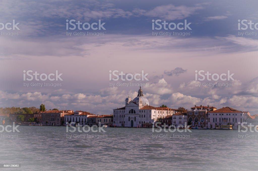 Venice. Canal Della Giudecca stock photo