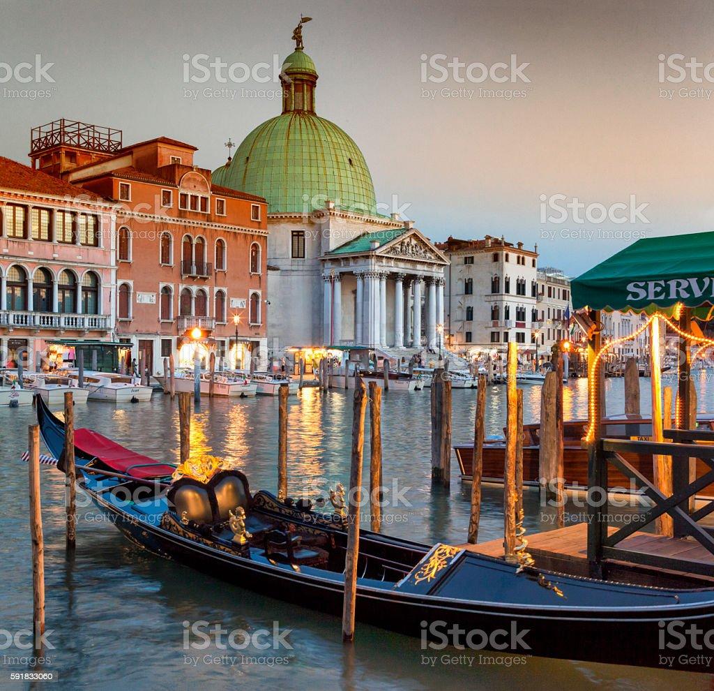 Venice Canal Grande stock photo
