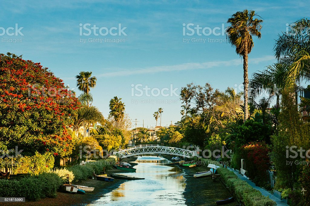Venice Canal Historic District Los Angeles stock photo