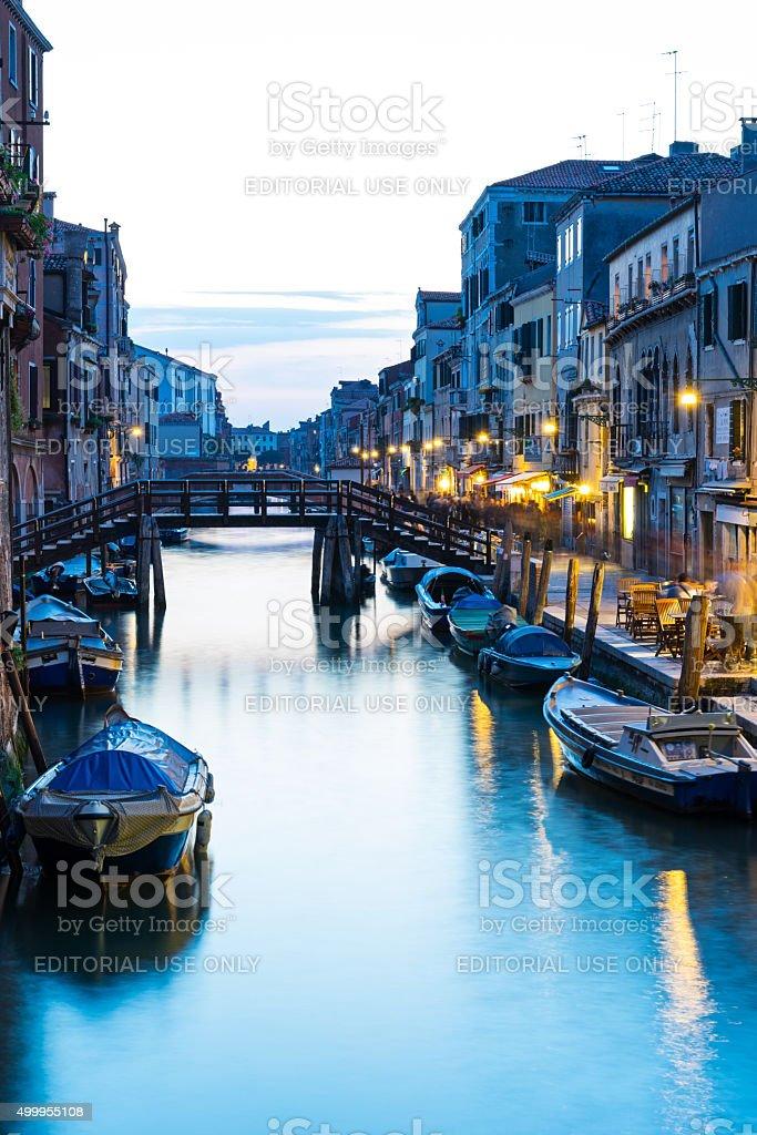 Venice Canal in Jewish Ghetto stock photo