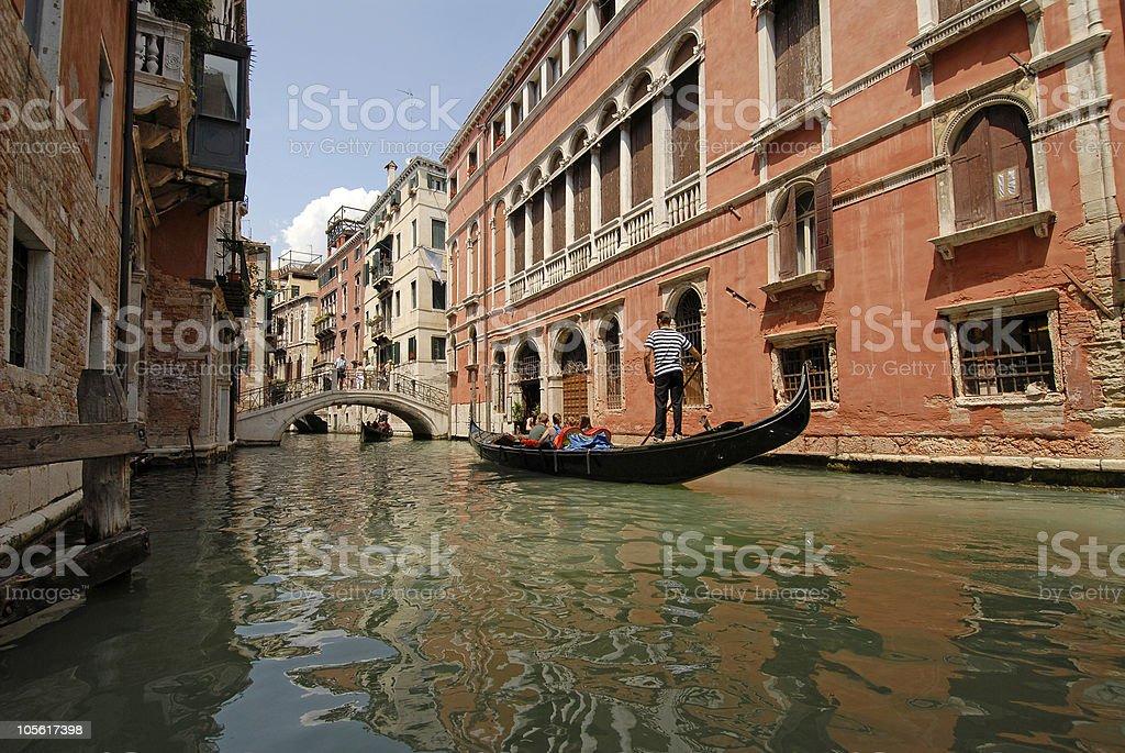 Canal de Venecia, Italia foto de stock libre de derechos