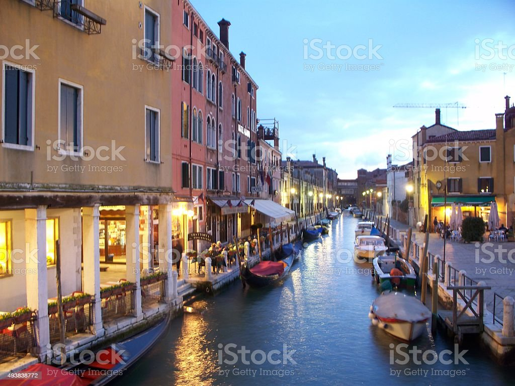 canal-이탈리아 베니스 royalty-free 스톡 사진