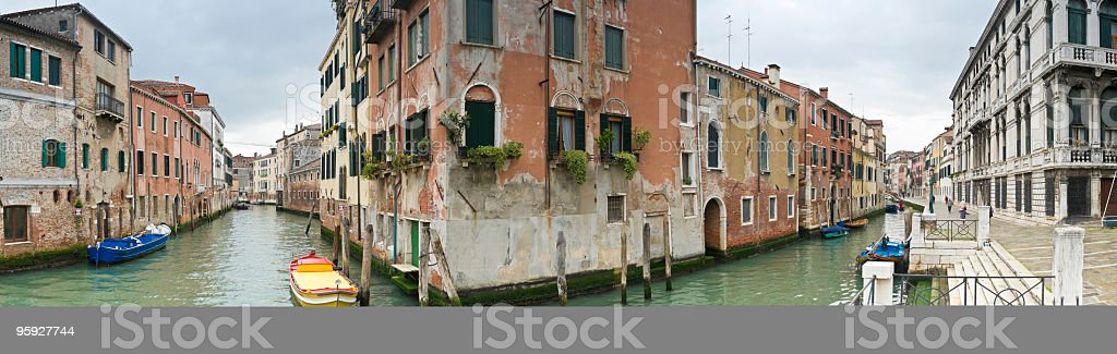Venice canal junction corner royalty-free stock photo