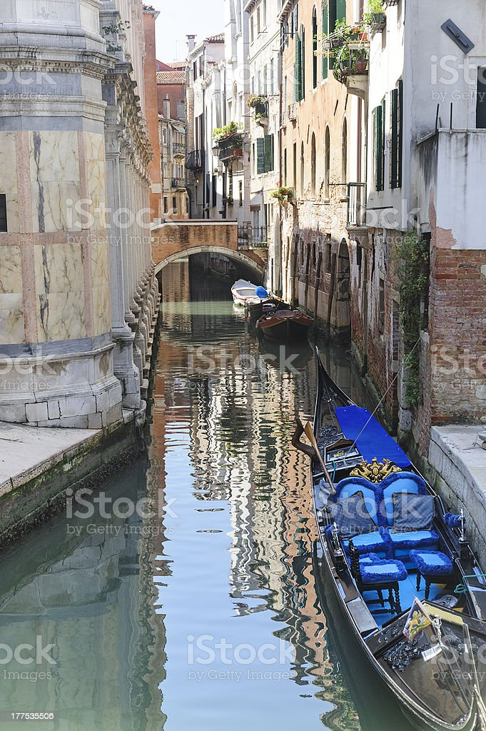 Venice (Venezia), canal royalty-free stock photo