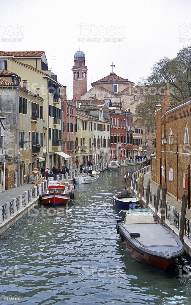 Venice canal scenic stock photo