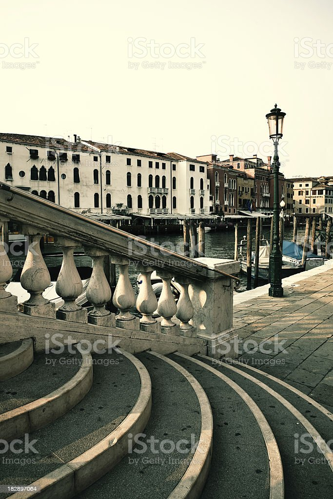 venice canal stairs royalty-free stock photo