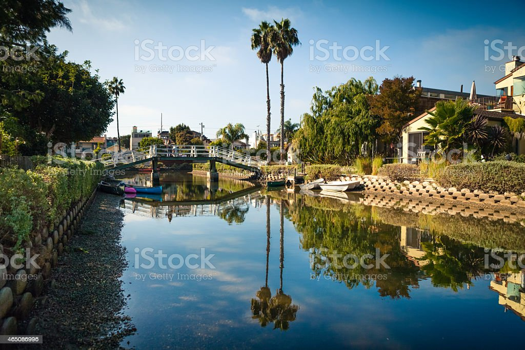 Venice Canals, Venice Neighborhood of Los Angeles, California royalty-free stock photo
