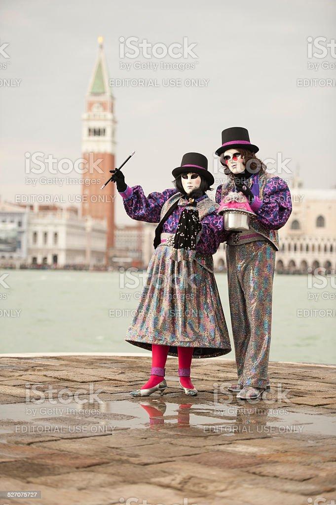 Venice Carnival 2014 - stock photo
