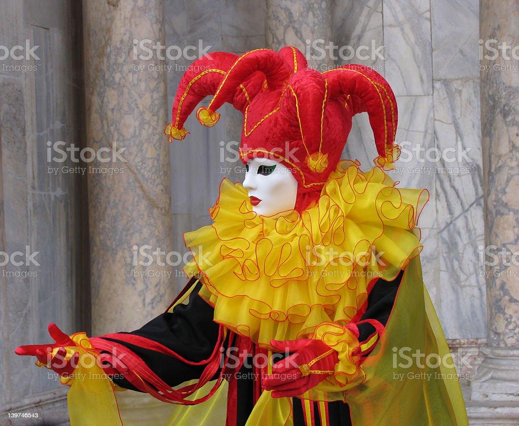Venice Carnival: mask, inviting royalty-free stock photo