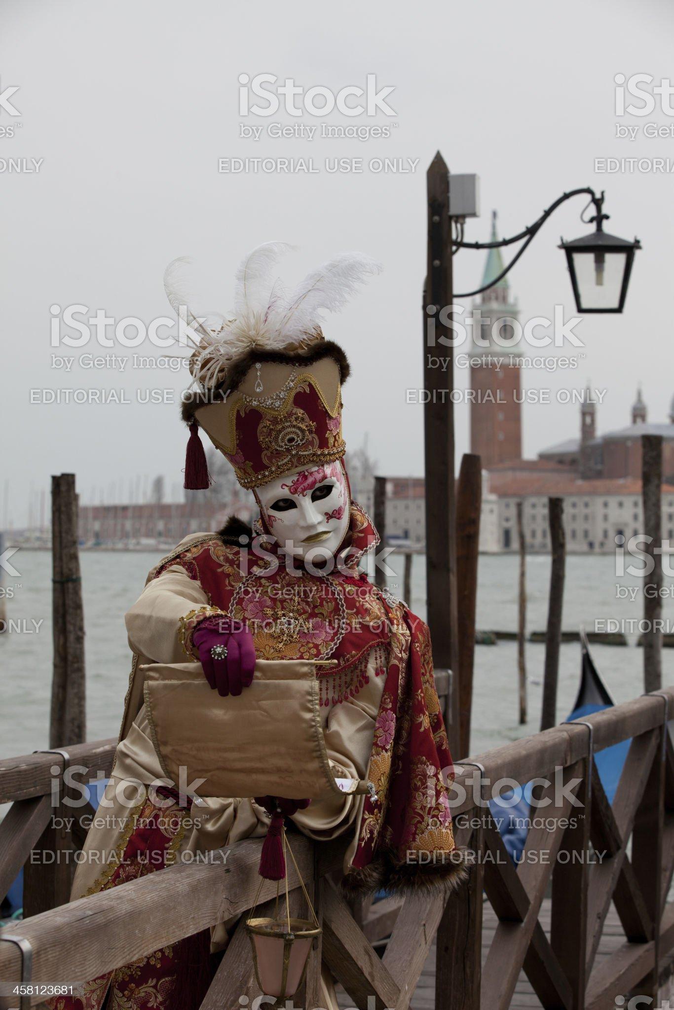 Venice carnival mask royalty-free stock photo
