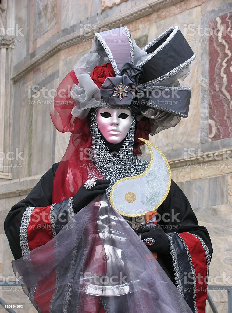 Venice Carnival: mask with armour royalty-free stock photo