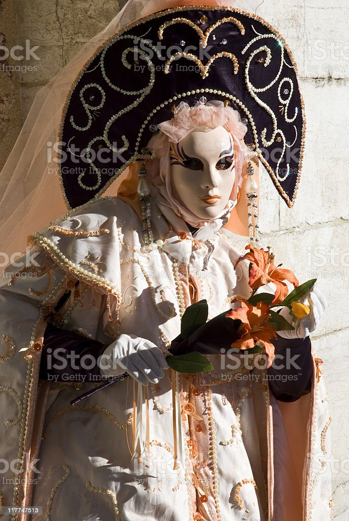 Venice Carnival Performers royalty-free stock photo