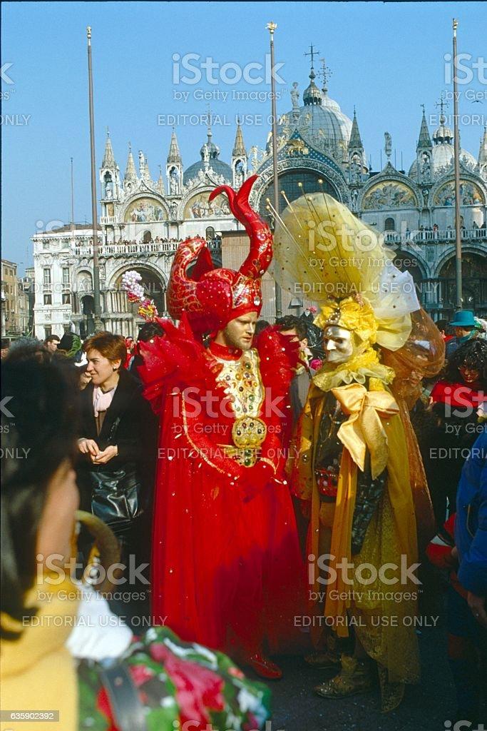 Venice, Carnival stock photo