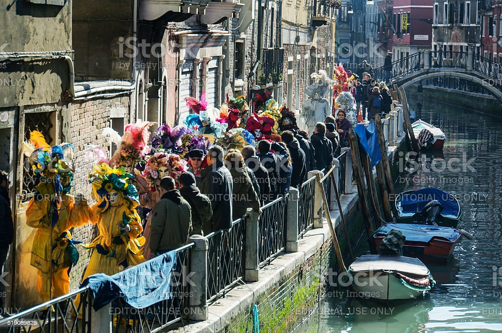 Venice Carnival procession stock photo