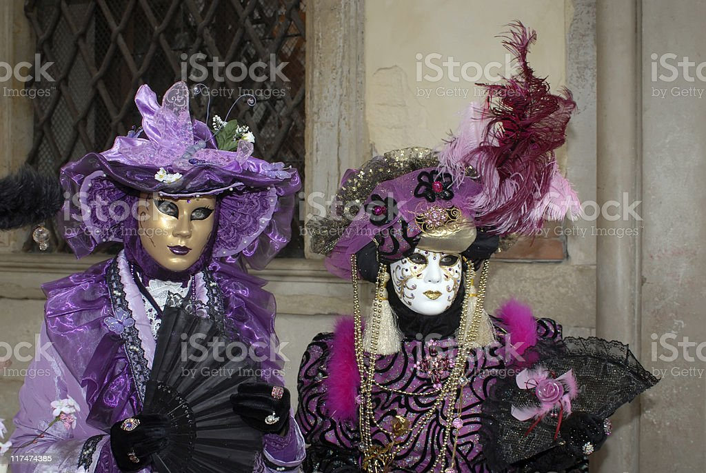 Venice carnival's masquerade royalty-free stock photo